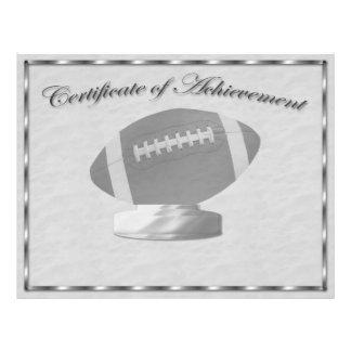 Silver Football Certificate of Achievement Custom Flyer