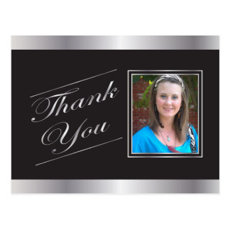 Silver Formal Thank You Postcard