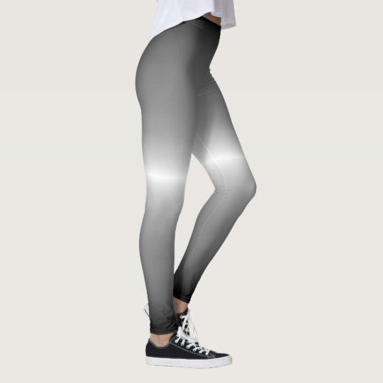 silver Fox Coat Grey Ombre Pastel Leggings