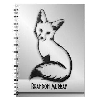 Silver Fox Custom Text Notebook