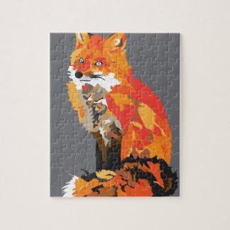 Silver Fox Jigsaw Puzzle