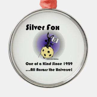 Silver Fox Rabbit Christmas Ornament