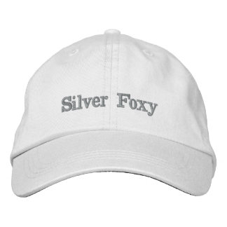 SILVER FOXY hat. Proud to be silver! Embroidered Hat