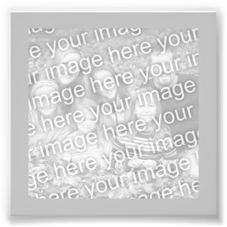 Silver Frame Photo Photographic Print