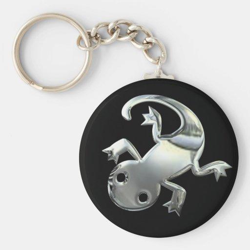 Silver Gecko Keychains
