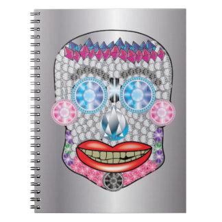 Silver Gemma Candy Skull Notebook