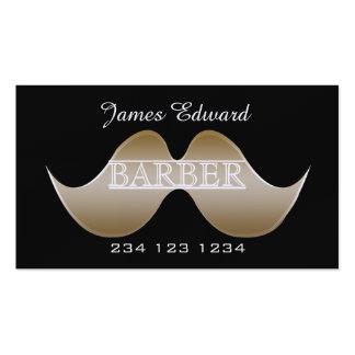 Silver Gentleman Mustache Men Salon Barbershop Pack Of Standard Business Cards