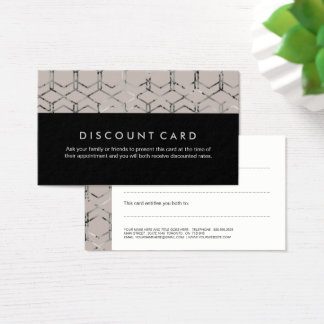 Silver Geometric Discount Cards