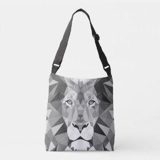 Silver Geometric Lion Crossbody Bag
