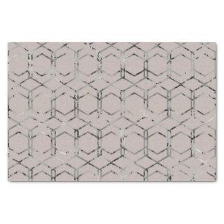 Silver Geometric Tissue Paper