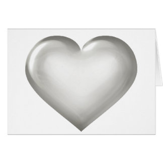Silver glass heart greeting card