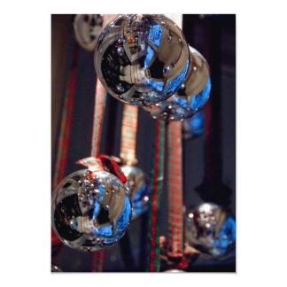 Silver glass ornament decorations 13 cm x 18 cm invitation card