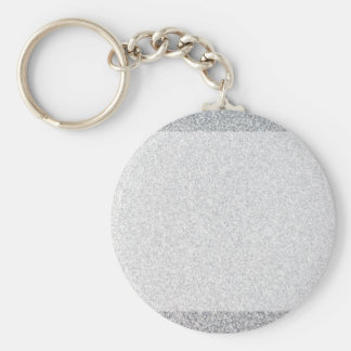 Silver glitter blank template basic round button key ring