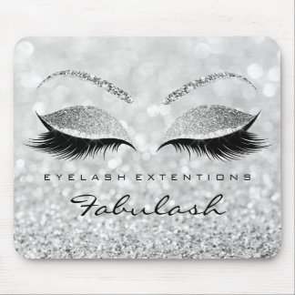 Silver Glitter Branding Beauty Studio Lashes Exten Mouse Pad