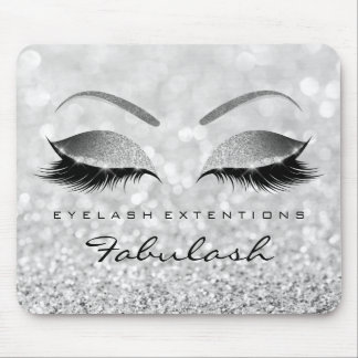 Silver Glitter Branding Beauty Studio Lashes Gray Mouse Pad