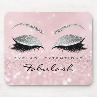 Silver Glitter Branding Beauty Studio Lashes Pink Mouse Pad