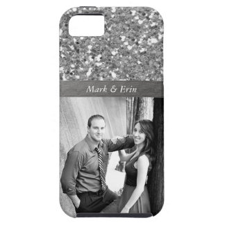 Silver Glitter Design Personalized Photo Case For The iPhone 5