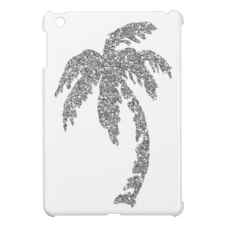 Silver Glitter Effect Palm Tree iPad Mini Case