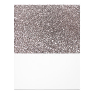 Silver glitter 21.5 cm x 28 cm flyer