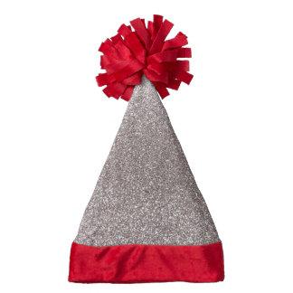 Silver glitter santa hat