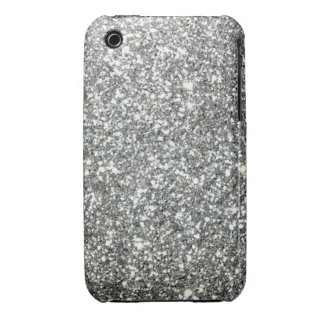 Silver Glitter Glamour iPhone 3 Case