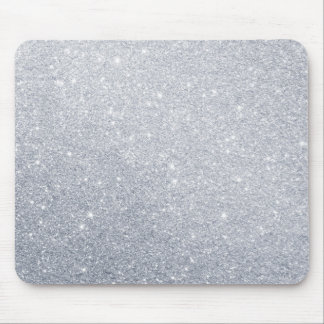 silver glitter grey faux effect mouse pad