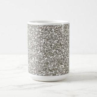 Silver Glitter Hanukkah Mug