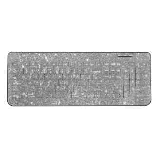 Silver Glitter Keyboard