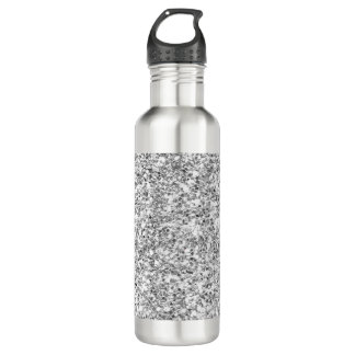Silver Glitter Printed 710 Ml Water Bottle