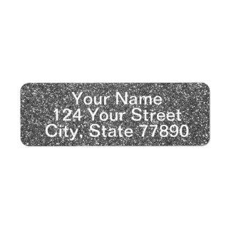 Silver Glitter Return Address Label
