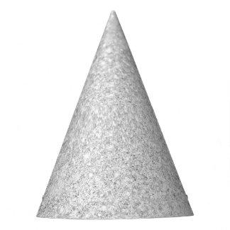 Silver Glitter Shiny Sparkley Party Hat