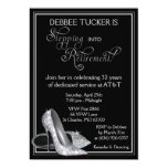 Silver Glitter Shoes Retirement Party 13 Cm X 18 Cm Invitation Card