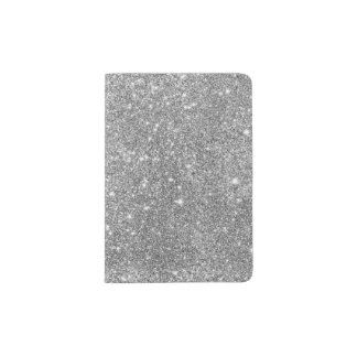 Silver Glitter Sparkles Passport Holder