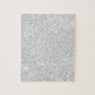 Silver Glitter Sparkley Jigsaw Puzzle