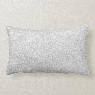Silver Glitter Sparkley Lumbar Pillow