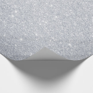 Silver Glitter Wrapping Paper
