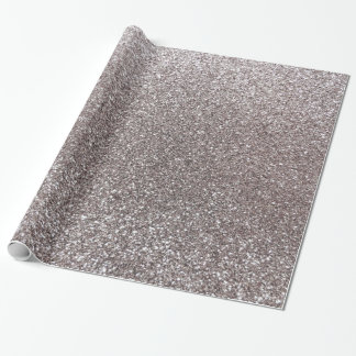 Silver glitter gift wrapping paper