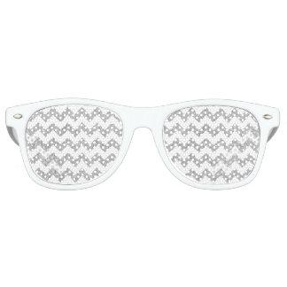 Silver Glitter Zigzag Stripes Chevron Pattern