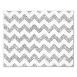 Silver Glitter Zigzag Stripes Chevron Pattern Photo