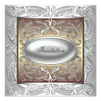 Silver Gold All Occasion Party Invitation