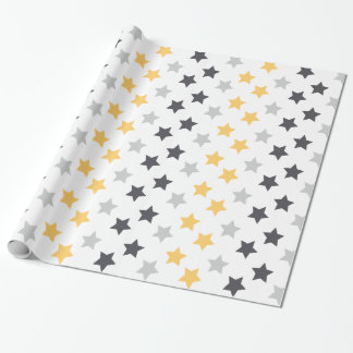 Silver Gold and Black Stars Pattern