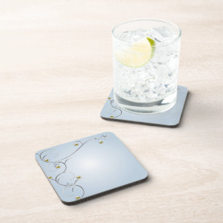 Silver/Gold Branches with Butterflies Blue Cork Co Drink Coasters