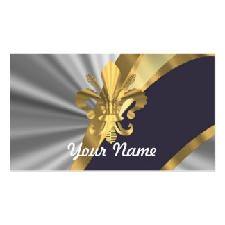 Silver & gold Fleur dy Lys Pack Of Standard Business Cards