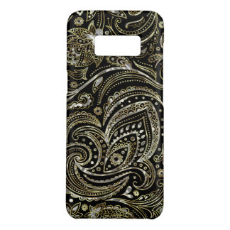 Silver & Gold Floral Paisley Pattern Case-Mate Samsung Galaxy S8 Case