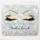 Silver Gold Glitter Branding Beauty Lashes Grey Mouse Pad