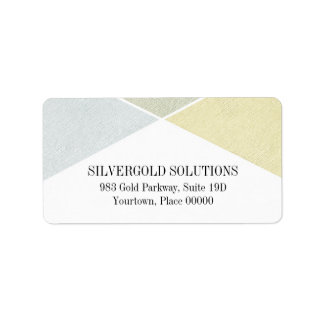 Silver Gold Metal Look Industrial Chic Address Label