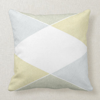Silver Gold Metal Look Industrial Chic Throw Pillow