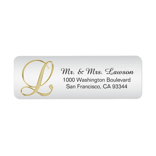 silver address label