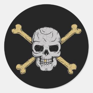 Silver & Gold Round Sticker