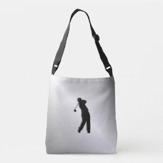 Silver Golf Design Crossbody Bag